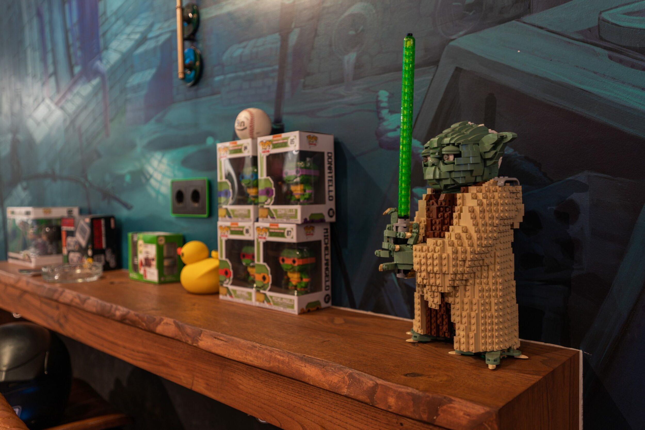 master yoda from lego in weed club