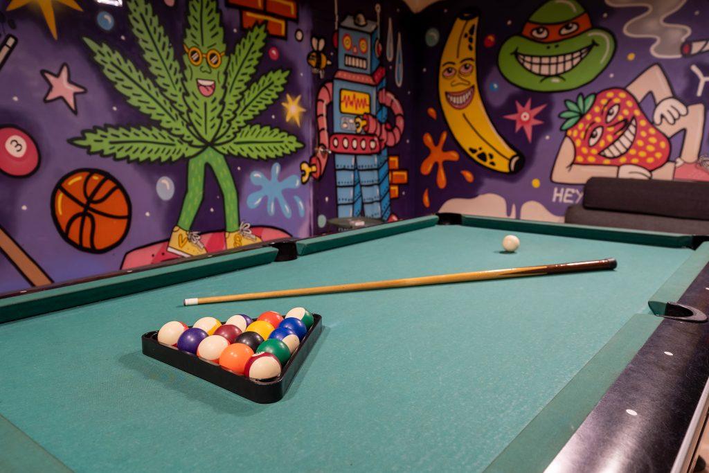 billiards in the cannabis club photo