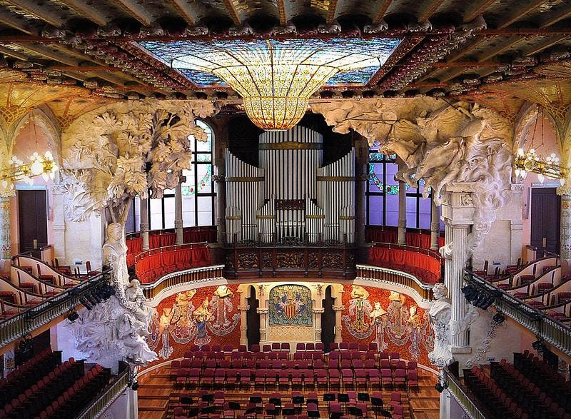Interior of the Palace of Catalan Music (Palau de la Música Catalana)