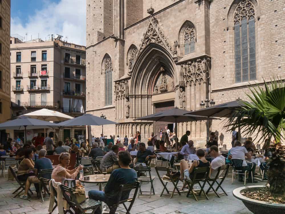 photo of Santa Maria del Mar square in El Born, Barcelona
