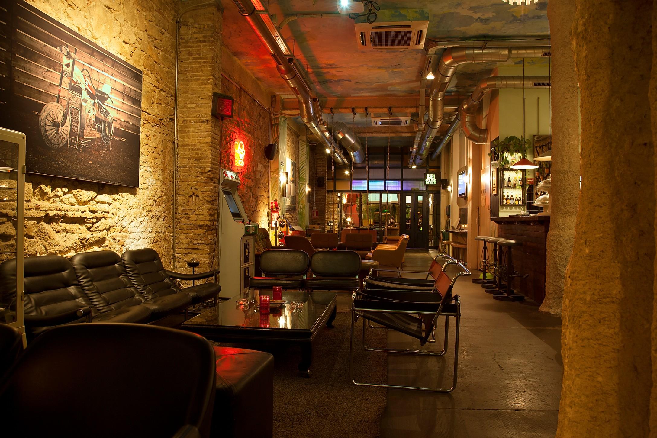 Raval cannabis club lounge area