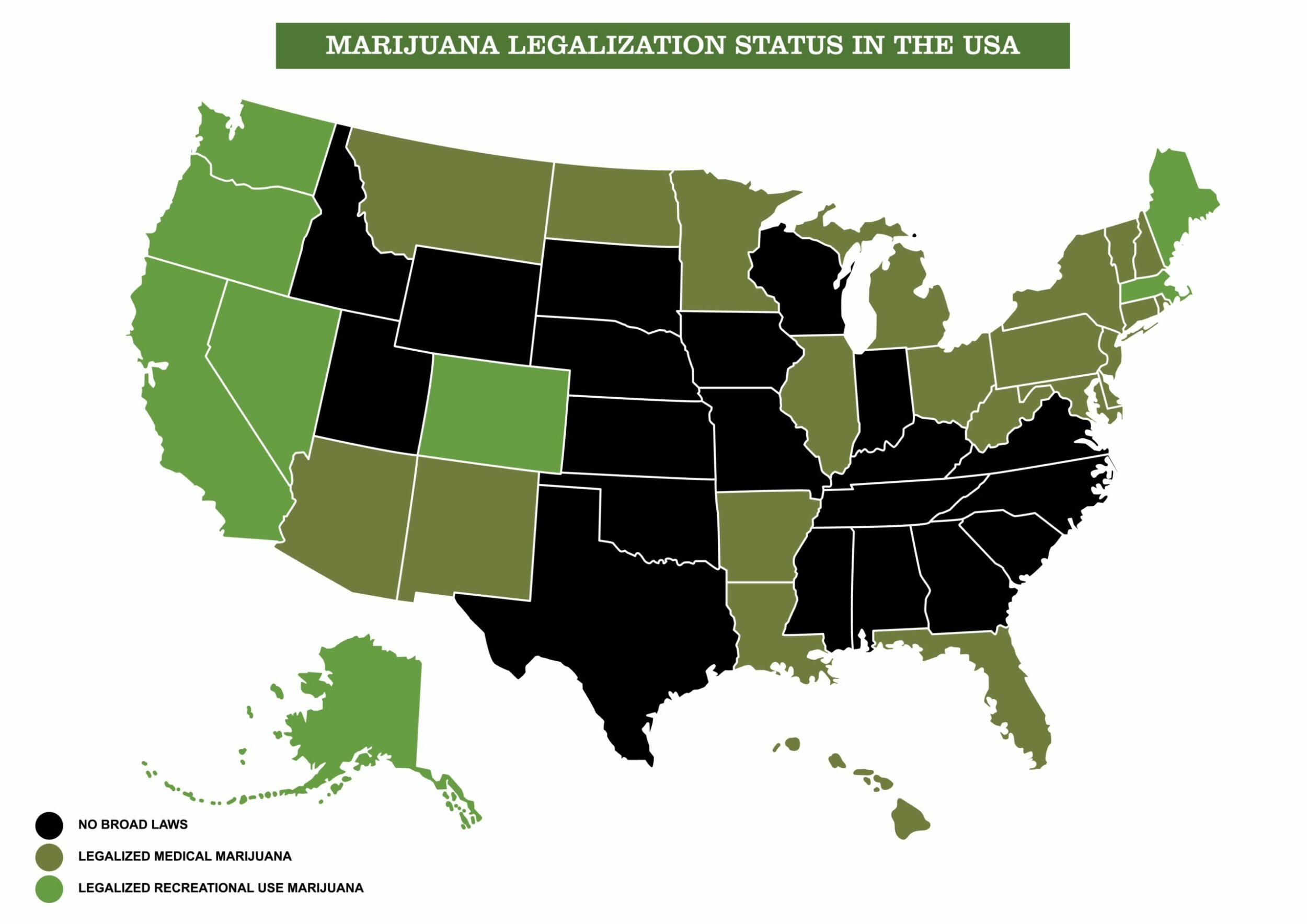 Marijuana legalization status in the USA photo