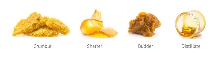 Wax, rosin, crumble, live resin, honeycomb, budder, solvent hash, shatter, badder/budder, distillate, pull-and-snap photo