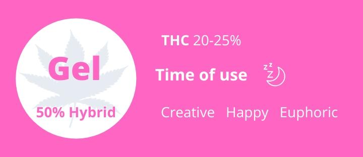 Weed hybrid Gelato THC 20-25% photo