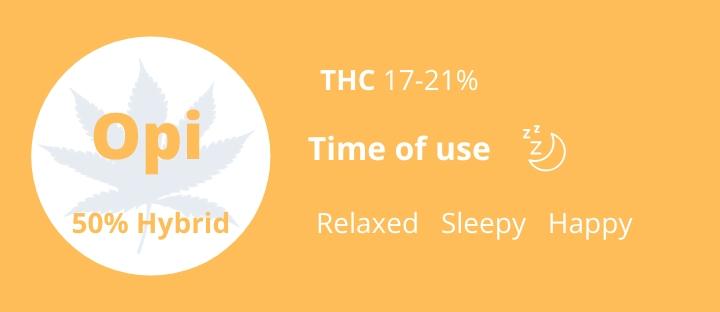 Weed hybrid Opium THC 17-21% photo